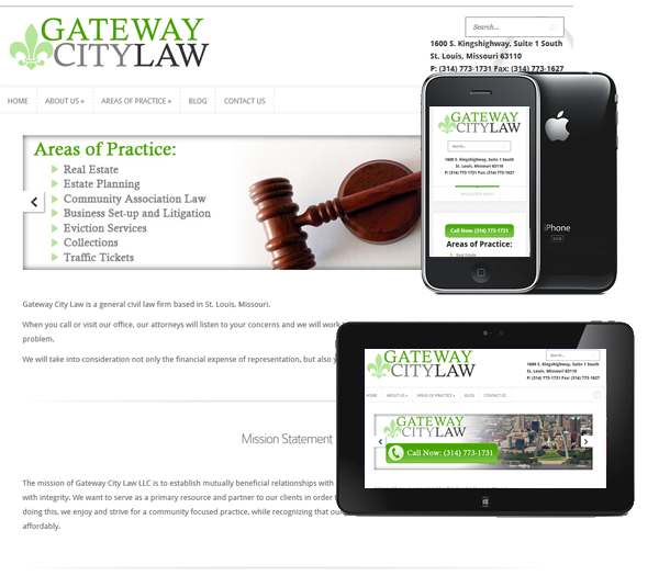 P3 Portfolio - Gateway City Law - Portland Web Design