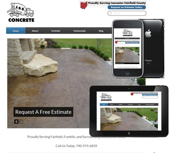 P3 Portfolio - JSE Concrete - Portland Web Design & Management