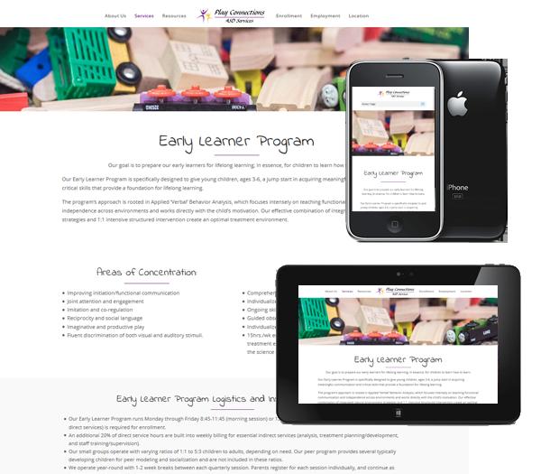 P3 Portfolio - Play Connections - Portland Web Design & Management