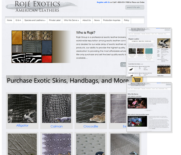 P3 Portfolio - Roje Leather - Portland Web Design & Online Marketing