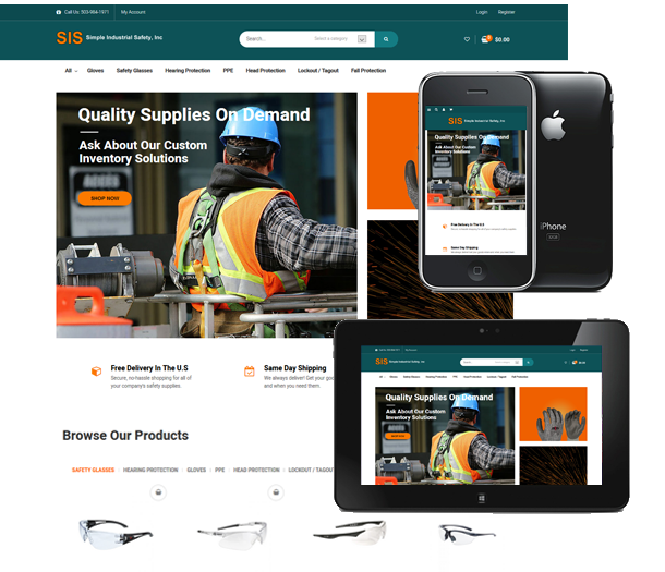 P3 Portfolio - Simple Industrial Safety - Portland Ecommerce Design & Management