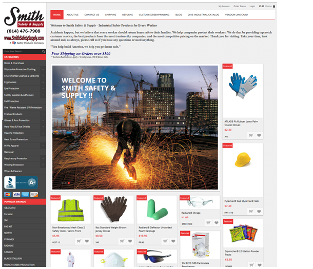 P3 Portfolio - Smith Safety Supply - Portland Ecommerce Management & Marketing