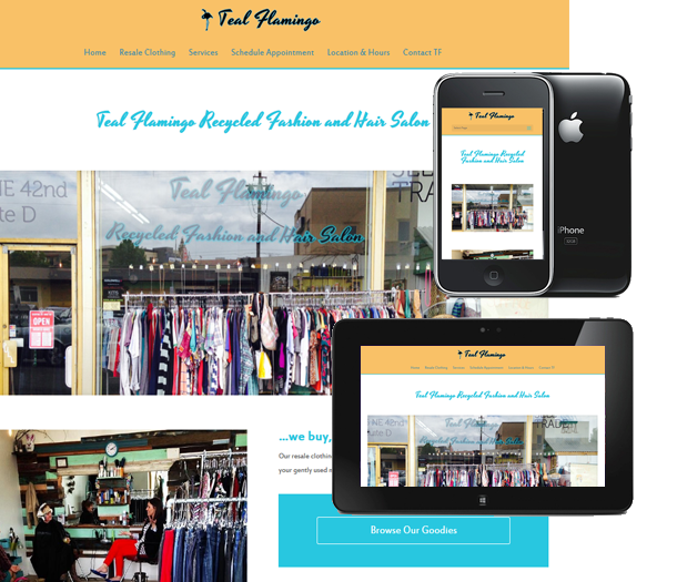 P3 Portfolio - Teal Flamingo - Portland Web Design & Management