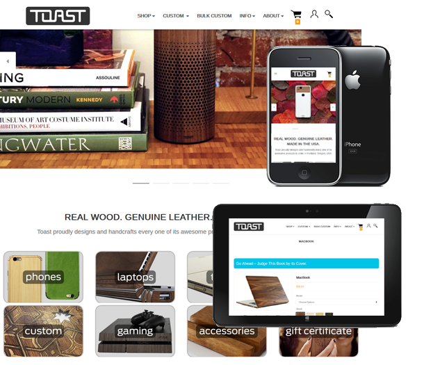 P3 Portfolio - Toast - Portland Bigcommerce Design & Online Marketing